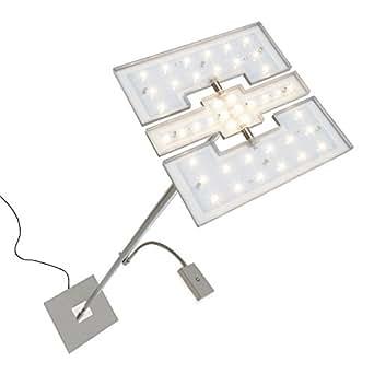 Briloner Leuchten - Lámpara de pie LED para el salón, regulable, con foco al techo, con luz para leer