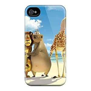 High Quality Phone Covers For Iphone 4/4s With Customized Colorful Madagascar 3 Pattern AlissaDubois