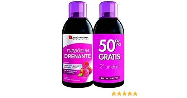 Forte-Pharma - PACK 2 UNIDADES TURBOSLIM DRENANTE SABOR FRAMBUESA 500ML FORTE PHARMA: Amazon.es: Salud y cuidado personal