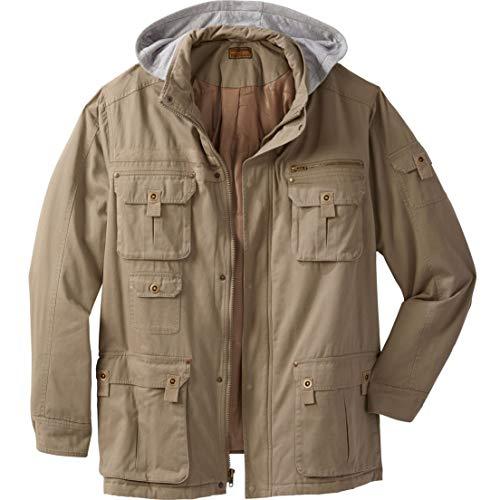 262ef9dbcd2 Jual Boulder Creek Men s Big   Tall Multi-Pocket Lined Twill Jacket ...