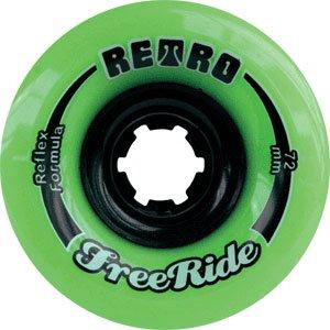 該当する海洋同様のRetro Freeride 72mm 80a Lime Skateboard Wheels (Set of 4) by Retro