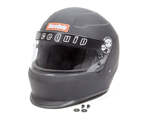 (RaceQuip 273995 Flat Black Large PRO15 Full Face Helmet (Snell SA-2015 Rated))