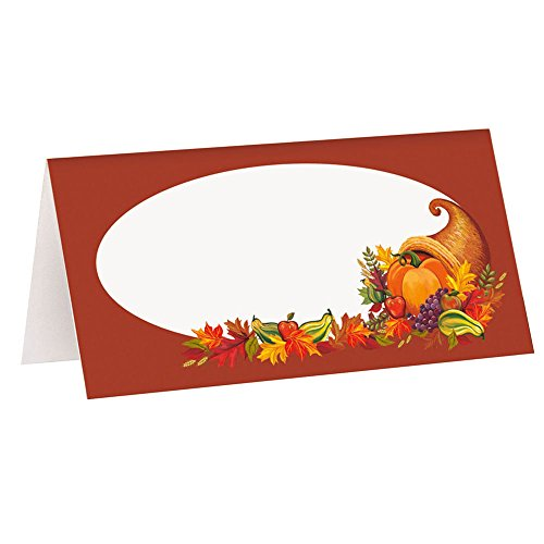 Fall Harvest Thanksgiving Place Cards, (Mardi Gras Table Arrangements)