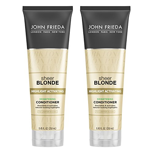Green Fairy Makeup - John Frieda Sheer Blonde Highlight Activating Brightening Conditioner for Lighter Blondes, 8.45 Ounces (Pack of 2)