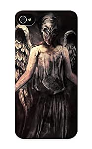 New Style Summerlemond Hard Case Cover For Iphone 5/5s- Doctor Who The Silence Angels Dark Fallen Wings Fantasy Evil Scary Spooky Creepy Horror Fantasy Mask Art