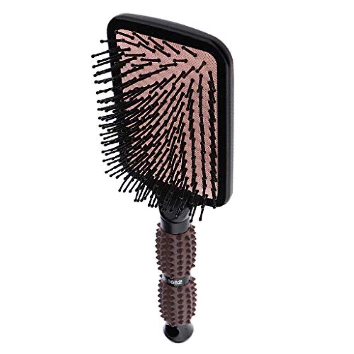 倒産ヘッジラベルPerfeclan ヘアブラシ 櫛 くし 頭皮/肩/顔マッサージコーム 美髪ケア 血行促進 薄毛改善 全2サイズ - スクエア