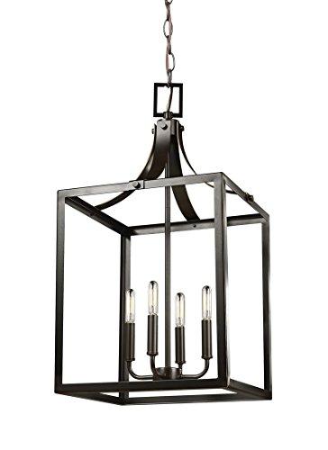 Sea Gull 5340604-782 Labette Pendant, 4-Light 240 Total Watts, Heirloom (Bronze Large Lantern Pendant)