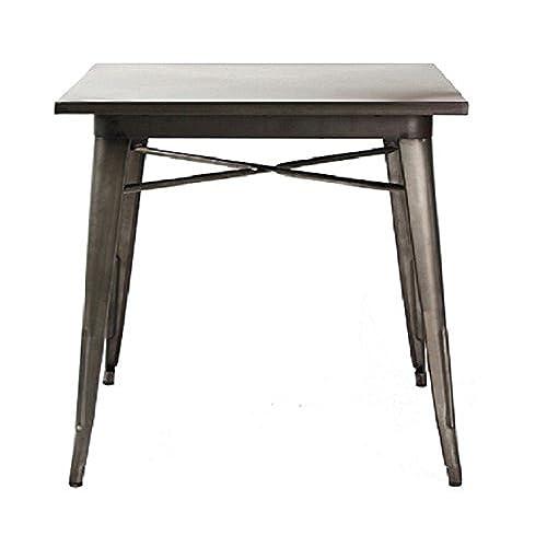 Industrial Kitchen Table Industrial kitchen table amazon metal indoor outdoor resturant dining table iron grey workwithnaturefo