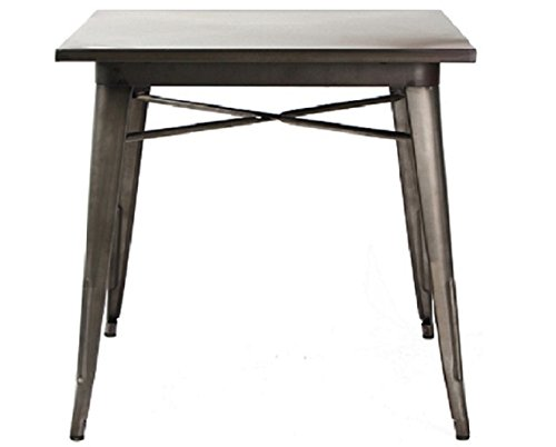 VIVA HOME Metal Indoor-Outdoor Resturant Dining Table , Iron (Outdoor Stacking Table)