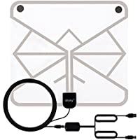 Wsky 60+ Miles 1080P Transparent Digital HDTV Antenna - Best Hdtv Antenna Indoor - Upgraded Silver Paddle Extremely High Reception - Super FUN and FREE for LIFE!