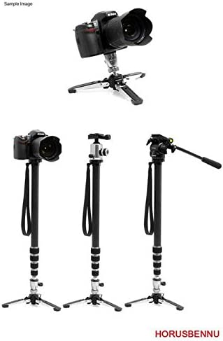 HORUSBENNU DSLR SLR RF Camera Standing Swivel Stand Monopod FX-3457A 68 with Case