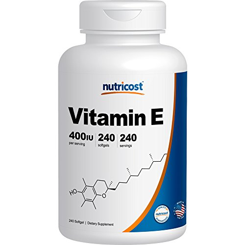 Nutricost Vitamin E 400 IU, 240 Softgel Capsules