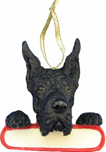 Great Dane Ornament Black