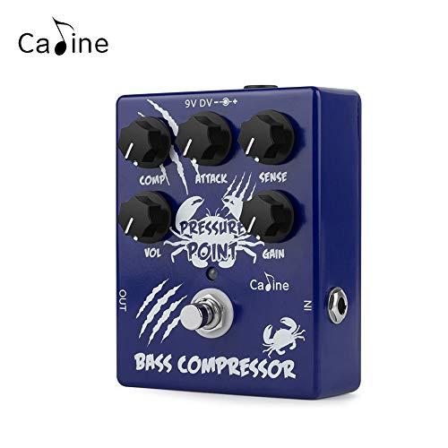 Caline Guitar Effects Pressure Point Electric Bass Compressor Pedal True Bypass Blue CP-45
