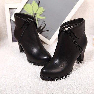 Botas de la mujer Negro Casual PU Confort Primavera Black