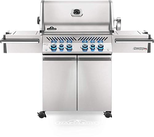 Napoleon PRO500RSIBNSS-3 Prestige PRO 500 Natural Gas Grill with Infrared Rear and Side Burner, Stainless Steel (Renewed)