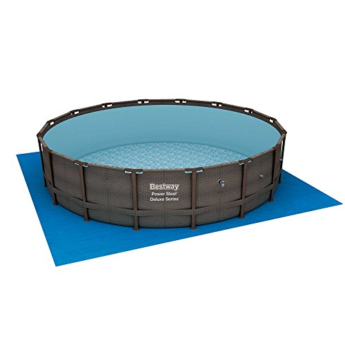 Bestway 15123 14 Foot Power Steel Deluxe Above Ground Swimming Pool Set and Pump
