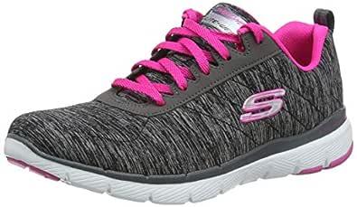 Skechers Womens 13067 Flex Appeal 3.0 Black Size: 5
