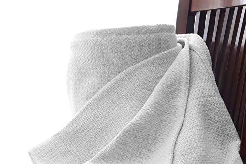 Whisper Organics Organic Cotton Blanket G.O.T.S. Certified (King, - Organic White Blanket
