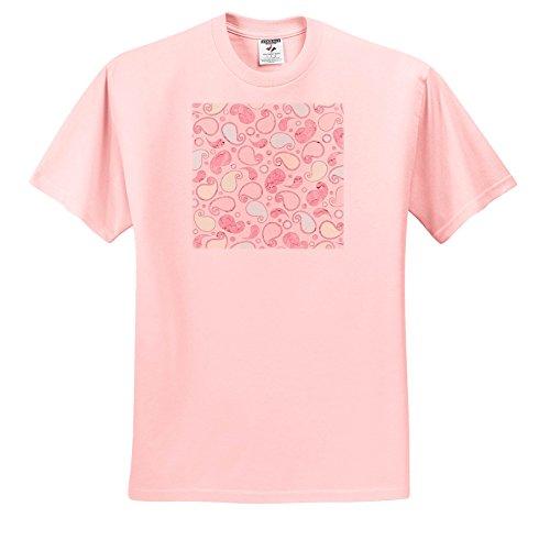 Uta Naumann Pattern - Pink and Light Yellow Paisley Vintage Doodle Pattern - T-Shirts - Toddler Light-Pink-T-Shirt (2T) (TS_267081_47)