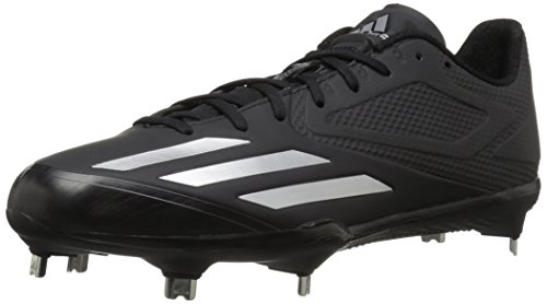 adidas Men's Freak X Carbon Mid Baseball Shoe, Black Silver Metallic, ((8.5 M US)