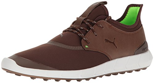 PUMA Men's Ignite Spikeless Sport Golf Shoe, Chestnut-Green Gecko, 11 Medium US