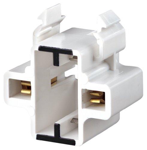 Compact 2 Base Fluorescent Holder (Leviton 26720-100 Gx23, Gx23-2 Base, 2-Pin, Compact Fluorescent Lampholder)
