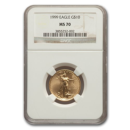 1999 W 1/4 oz Gold American Eagle MS-70 NGC Gold MS-70 NGC