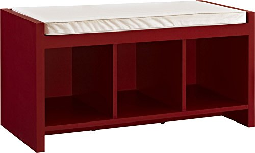 Altra Furniture Penelope Entryway Storage Bench in Red Ameriwood Wood Seat