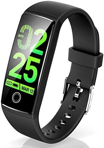 최신 스마트 팔찌 혈압 심장 박동수 컬러 스크린 스마트 시계 방수 최신 들어오는 LINE 알림 보수계 잠 검 측 활동 량 계 iphone 및 안드로이드 일본어 대응 (블랙) / Latest Smart Bracelet Blood Pressure Heart Rate Meter Color Screen Smart Wa...
