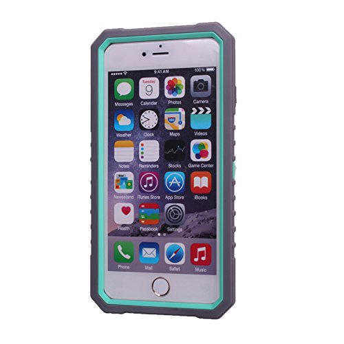 iPhone 6 Plus Case/6S Plus Case Honest kin 3 in 1 Case [X Series] Hybrid Heavy Duty Rugged Hard Case for iphone 6/6s Plus 5.5 Inch (gray/green) (Otterbox Iphone 5 Body Armor)