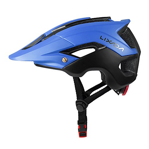 Lixada Mountain Bike Helmet Ultralight Adjustable MTB Cycling Bicycle Helmet Men Women Sports Outdoor Safety Helmet with 13 Vents (Black+Blue) For Sale