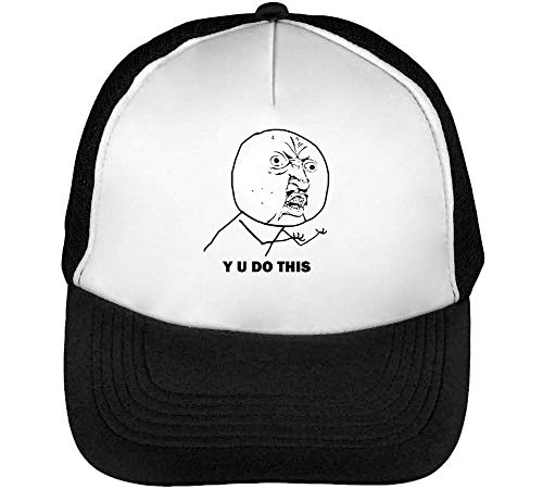 Hombre Blanco Meme Snapback U Gorras Y This Do Beisbol Negro PXq6nHz