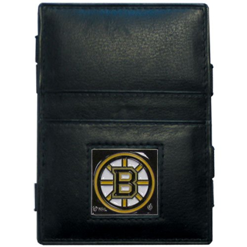Leather Boston Bruins Wallet - NHL Boston Bruins Genuine Leather Jabob's Ladder Magic Wallet