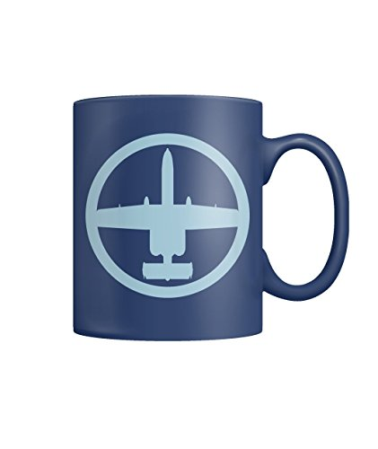 A-10 Warthog (Blue) Vintage Air Force Military Jet Fighter Airplane Color Coffee ()