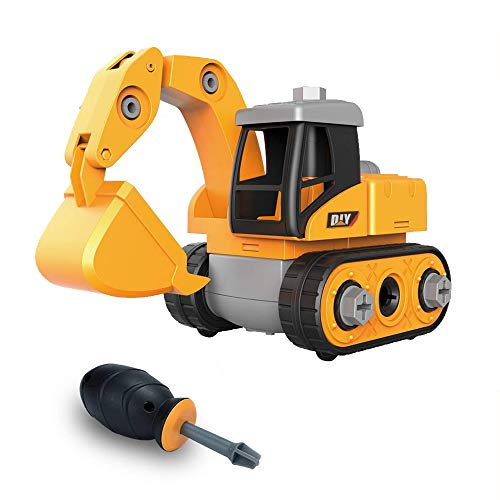 iLifeTech Car Toys Excavator Toy Educational Building Tractor for 3-12 Years Old Boys and Girls