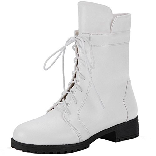 Moda Zipper Bianco Booties Martin Zanpa wBavqPxa