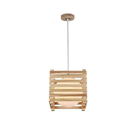 Madera Moderna Lámpara de techo, E27 Enchufe Lámpara de ...
