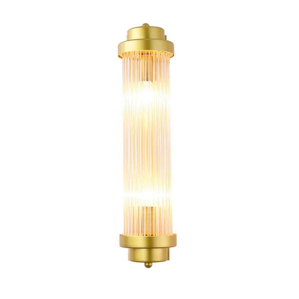Yd&hLED Wandlampe, Modern Creative Gold Glass Rod Wandleuchte mit E14 Schraube, Schlafzimmer-Lampe TV Hintergrund-TV Wand-Sconces, 12  50cm