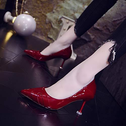 Yukun Schuhe hohen mit hohen Schuhe Absätzen Professionelle Weiße High Heel Sandaletten Weibliche Baotou Hohlen Schuhe Weibliche Stiletto Wies Schuhe 38 Schwarz 5757be