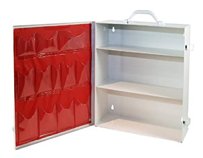 Medique Products 712MTM 3 Shelf First Aid Cabinet with Pockets, Empty by Medique Products