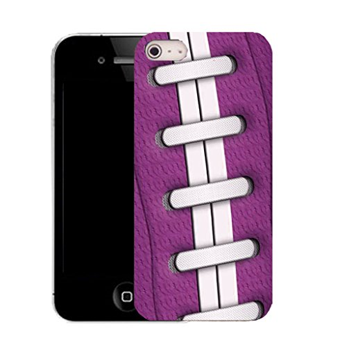 Mobile Case Mate IPhone 4s clip on Silicone Coque couverture case cover Pare-chocs + STYLET - purple rugby pattern (SILICON)