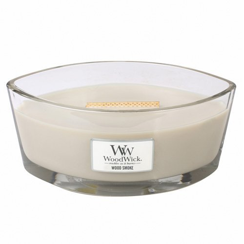 WoodWick WOOD SMOKE HearthWick Flame Large Scented Candle,Taupe