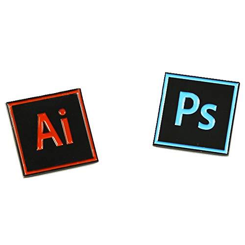 Amazon com: Designerd Photoshop & Illustrator Enamel Pins