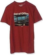 Jack & Jones Men's Joroutdoors Crew Neck, Short Sleeves T-Shirt, Red, Medium