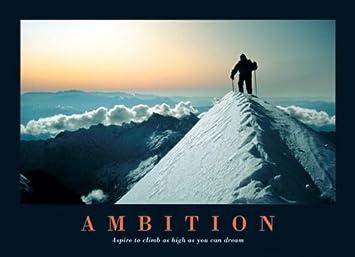 Amazon.com: Ambition-Mountain Climber on the Summit-Motivational ...
