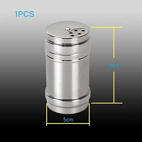 Robust Deer Stainless Steel Dredge Salt / Sugar / Spice / Pepper Shaker Seasoning Cans with Rotating Cover