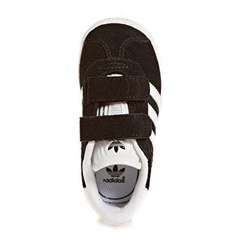 adidas Gazelle CF I, Zapatillas de Deporte Unisex Niños Negro (Negbas/Ftwbla/Ftwbla 000)
