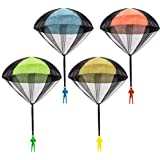 Parachute Toy, Tangle Free Throwing Toy Parachute, Outdoor Children's Flying Toys, No Battery nor Assembly Required (4 Pieces Set)