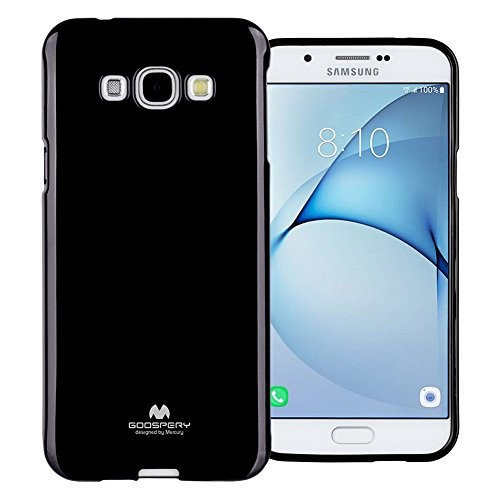 TPU Jelly Case for Samsung Galaxy A8 (Black) - 1